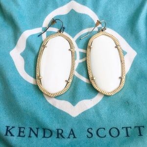Kendra Scott Danielle Statement Earring White Gold